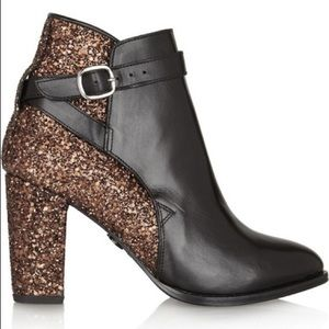 Markus Lupfer Glitter Leather Ankle Boots